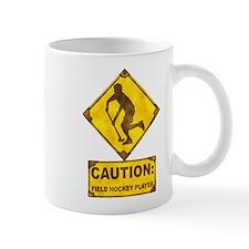 Field Hockey Caution Sign Mug