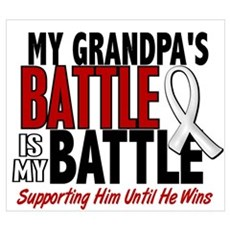 My Battle Too 1 PEARL WHITE (Grandpa) Wall Art Canvas Art