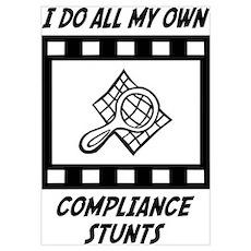 Compliance Stunts Wall Art Poster