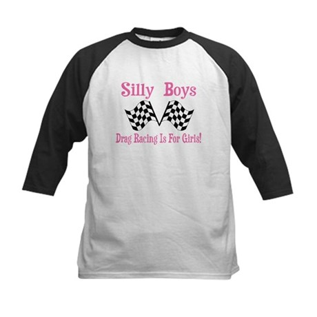 DRAG RACING IS FOR GIRLS Kids Baseball Jersey