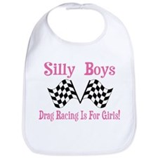 DRAG RACING IS FOR GIRLS Bib