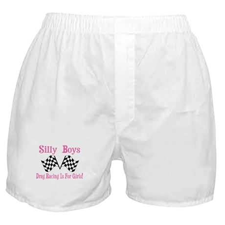 DRAG RACING IS FOR GIRLS Boxer Shorts