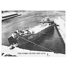 USS STARK COUNTY Wall Art Poster
