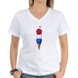 4th of july kids Womens V-Neck T-shirts