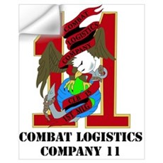 Combat Logistics Company 11 with Text Mini Poster Wall Decal