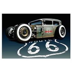 Route 66 RAT Wall Art Poster