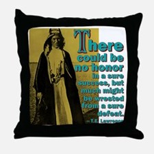 Honor In Defeat Throw Pillow