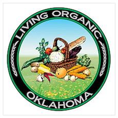 Living Organic Oklahoma Wall Art Poster