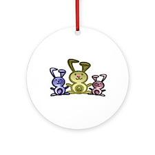 Love Cute Bunnies Ornament (Round)