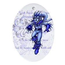 Jack Frost Oval Ornament