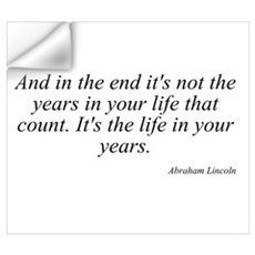 Abraham Lincoln quote 8 Wall Art Wall Decal