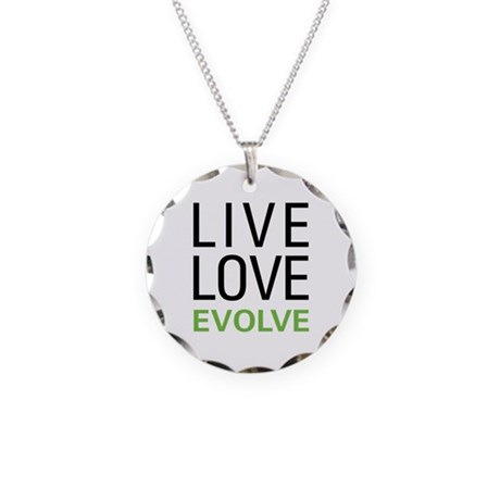 Live Love Evolve Necklace Circle Charm