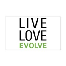 Live Love Evolve Car Magnet 20 x 12