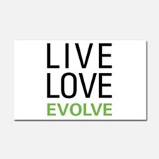 Live Love Evolve Car Magnet 20 x 12