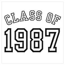 Class of 1987 Wall Art Poster