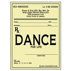 Prescription Dance Antique Wall Art Poster