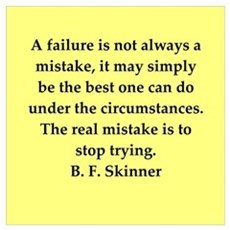 b f skinner quote Wall Art Framed Print