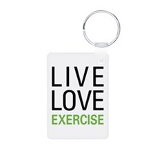 Live Love Exercise Keychains