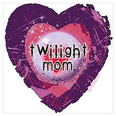 Twilight Mom Violet Grunge Heart Wall Art Poster