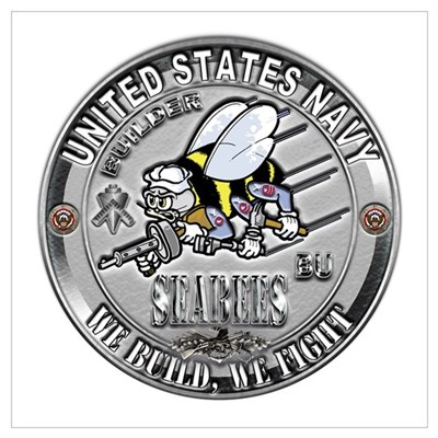 USN Navy Seabees Can Do Build Wall Art Poster