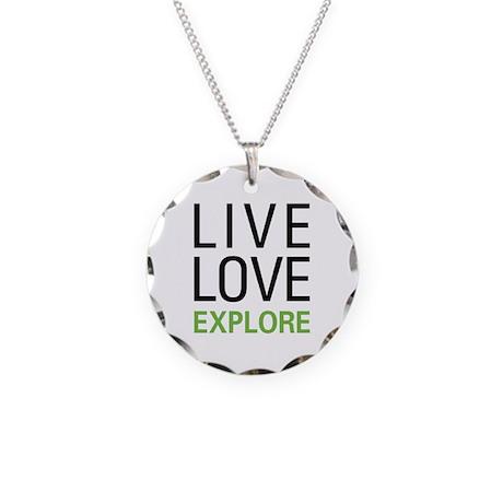 Live Love Explore Necklace Circle Charm