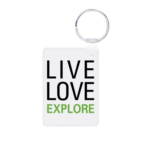 Live Love Explore Aluminum Photo Keychain