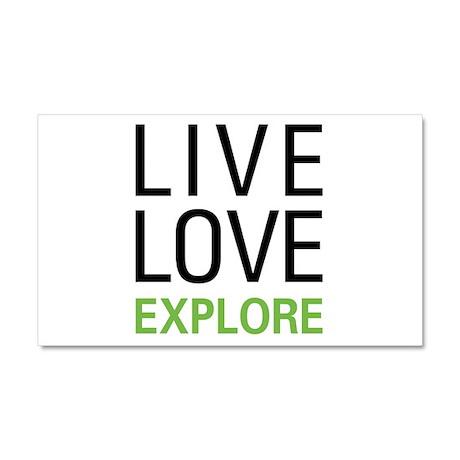 Live Love Explore Car Magnet 20 x 12
