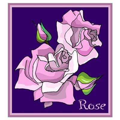 Purple Roses Wall Art Poster