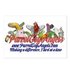 Parrot Toy Angel Postcards (Package of 8)