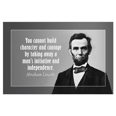 Lincoln Quote on Character Wall Art Poster