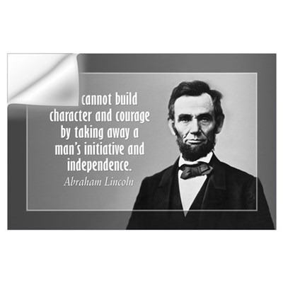 Lincoln Quote on Character Wall Art Wall Decal