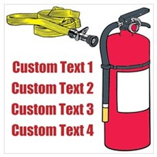 Fire Fighting Equipment Image Wall Art Poster