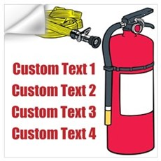 Fire Fighting Equipment Image Wall Art Wall Decal
