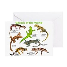 Geckos of the World Greeting Card