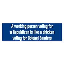 Colonel Sanders-CP Bumper Car Car Sticker