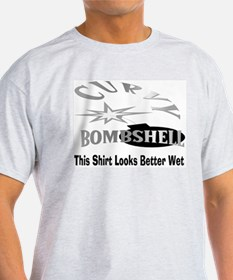 Wet Bombshell Ash Grey T-Shirt