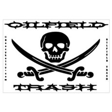Oil Field Trash,Skull,Bones Wall Art Poster