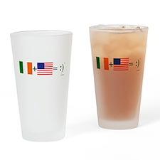 Happy Irish American Drinking Glass