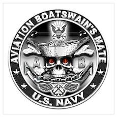 USN Aviation Boatswains Mate Wall Art Poster