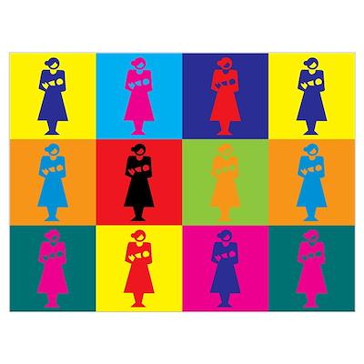 Midwifery Pop Art Wall Art Poster