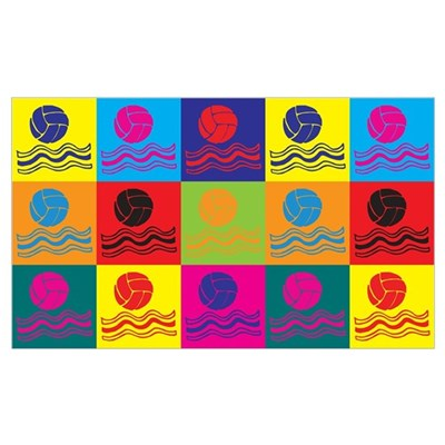 Water Polo Pop Art Wall Art Poster