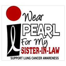 I Wear Pearl For My Sister-In-Law 9 Wall Art Poster