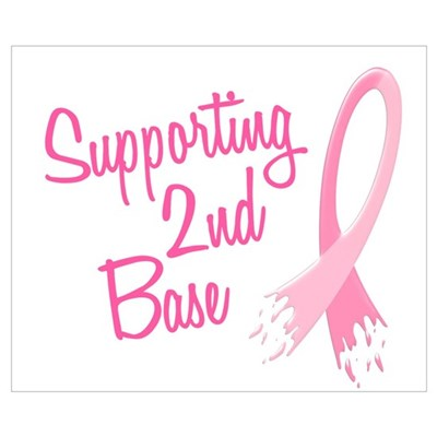 Supporting My.....Breast Cancer Wall Art Poster