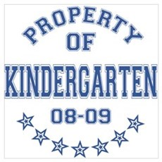 Property of Kindergarten 2008-2009 Wall Art Poster