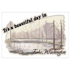 Beautiful Day in Forks Wall Art Framed Print
