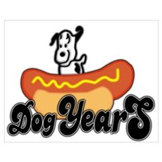 Dog Years Wall Art Poster