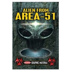 Area-51 Alien Wall Art Framed Print