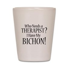 THERAPIST Bichon Shot Glass