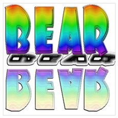 BEAR-RAINBOW/MIRROR Wall Art Canvas Art