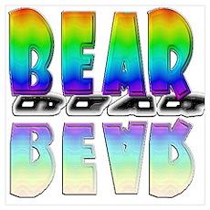 BEAR-RAINBOW/MIRROR Wall Art Poster
